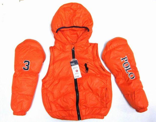 детская куртка трансформер оранжевая