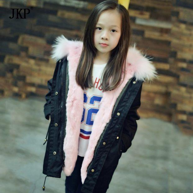 детская куртка парка с меховой подкладкой