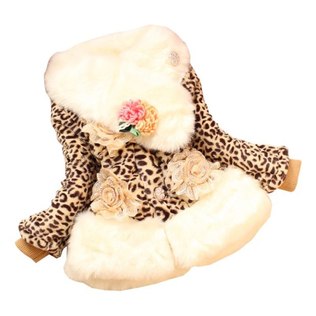 куртка леопард с мехом и цветами