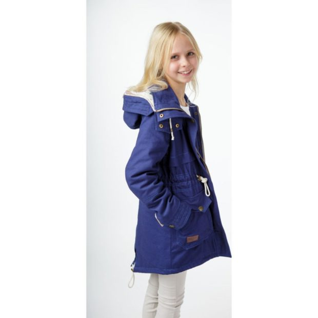 куртка-парка синяя на осень для девочек