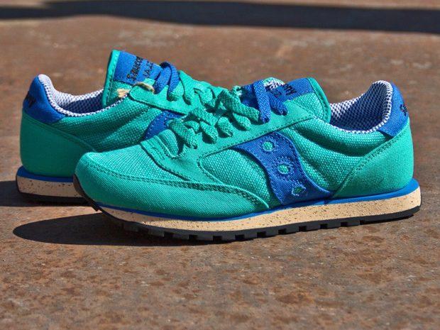 кроссовки из нубука зеленые с синим