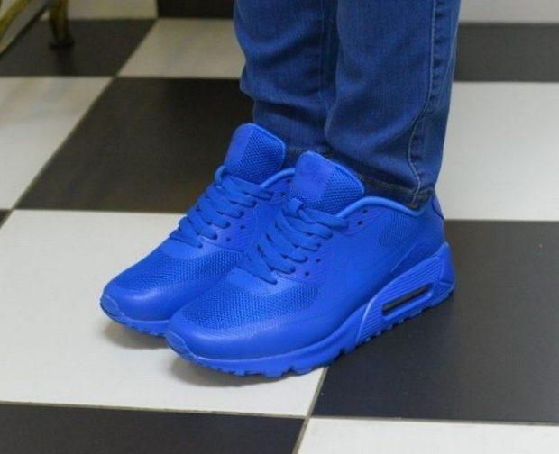 кроссовки ярко-синие