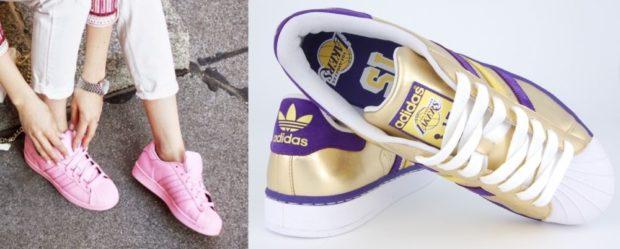 кроссовки розовые золото с фиолетовым