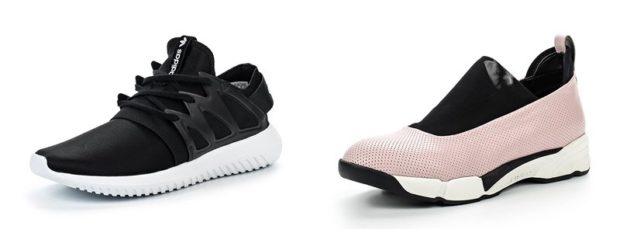 кроссовки черные подошва белая розовые с черным без шнурков