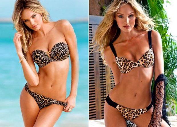 Модные купальники 2022-2023: раздельные леопардовые