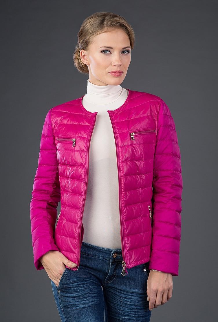 малиновая куртка стеганая