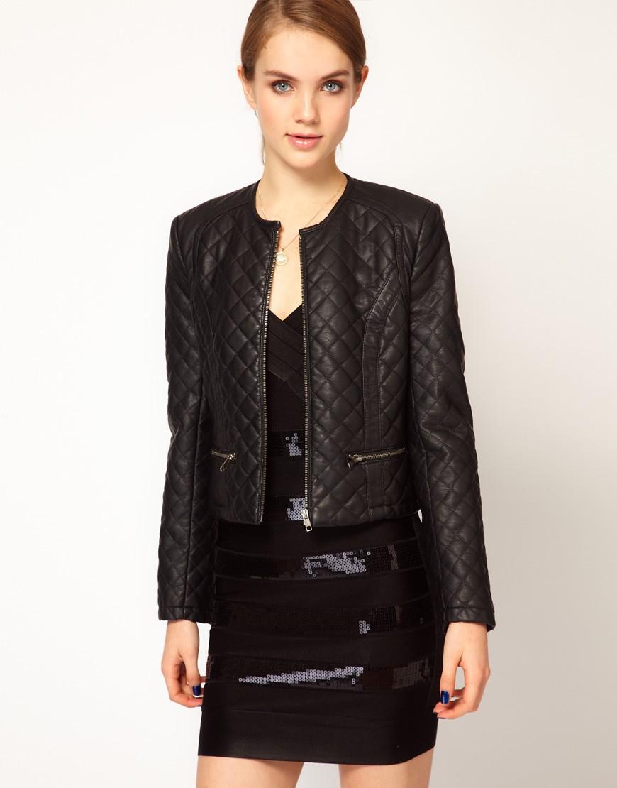 стеганная куртка черная короткая
