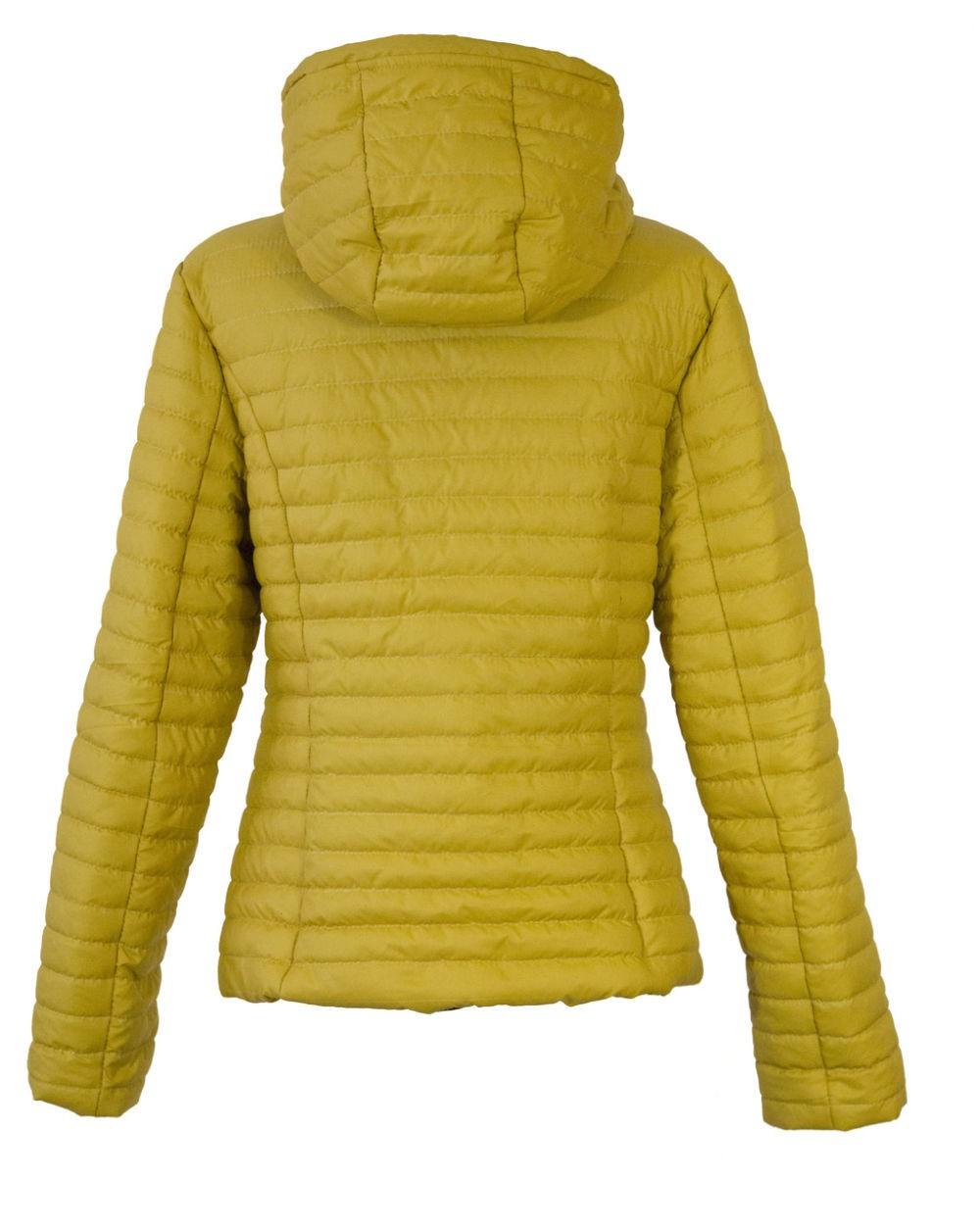 стеганная куртка горчичная