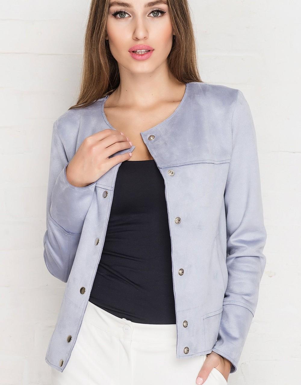 замшевая куртка светло-сиреневая короткая