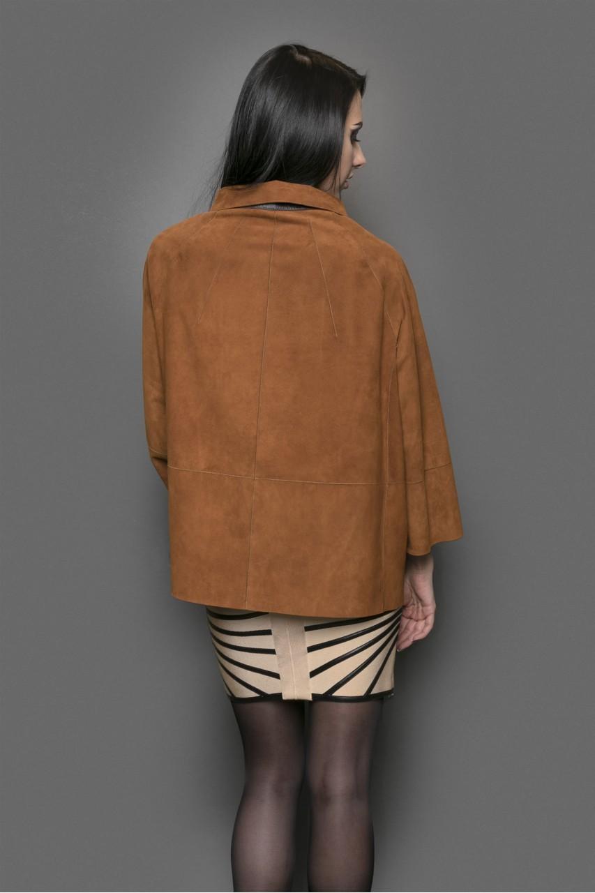 замшевая куртка коричневая оверсайз