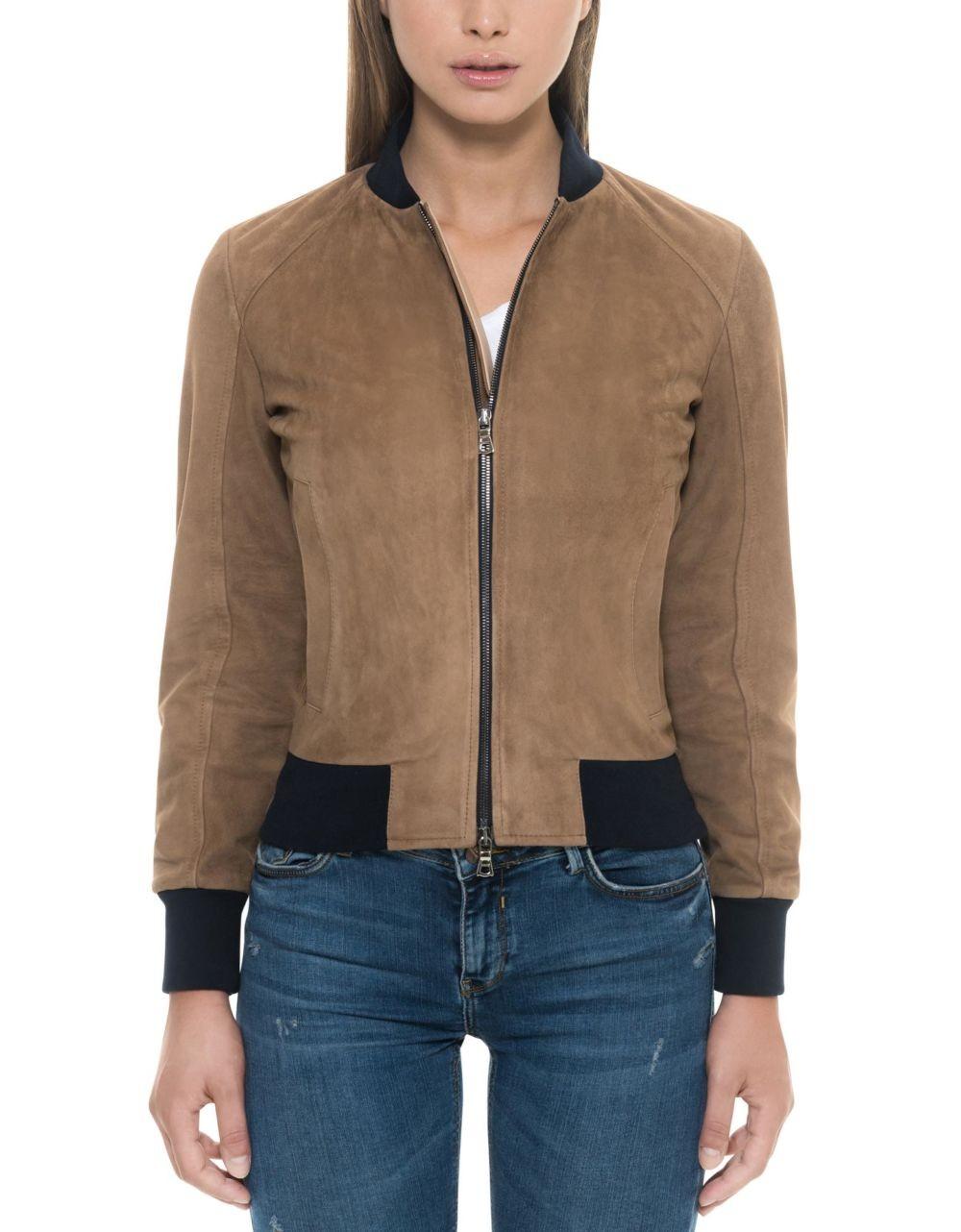 замшевая куртка коричневая короткая