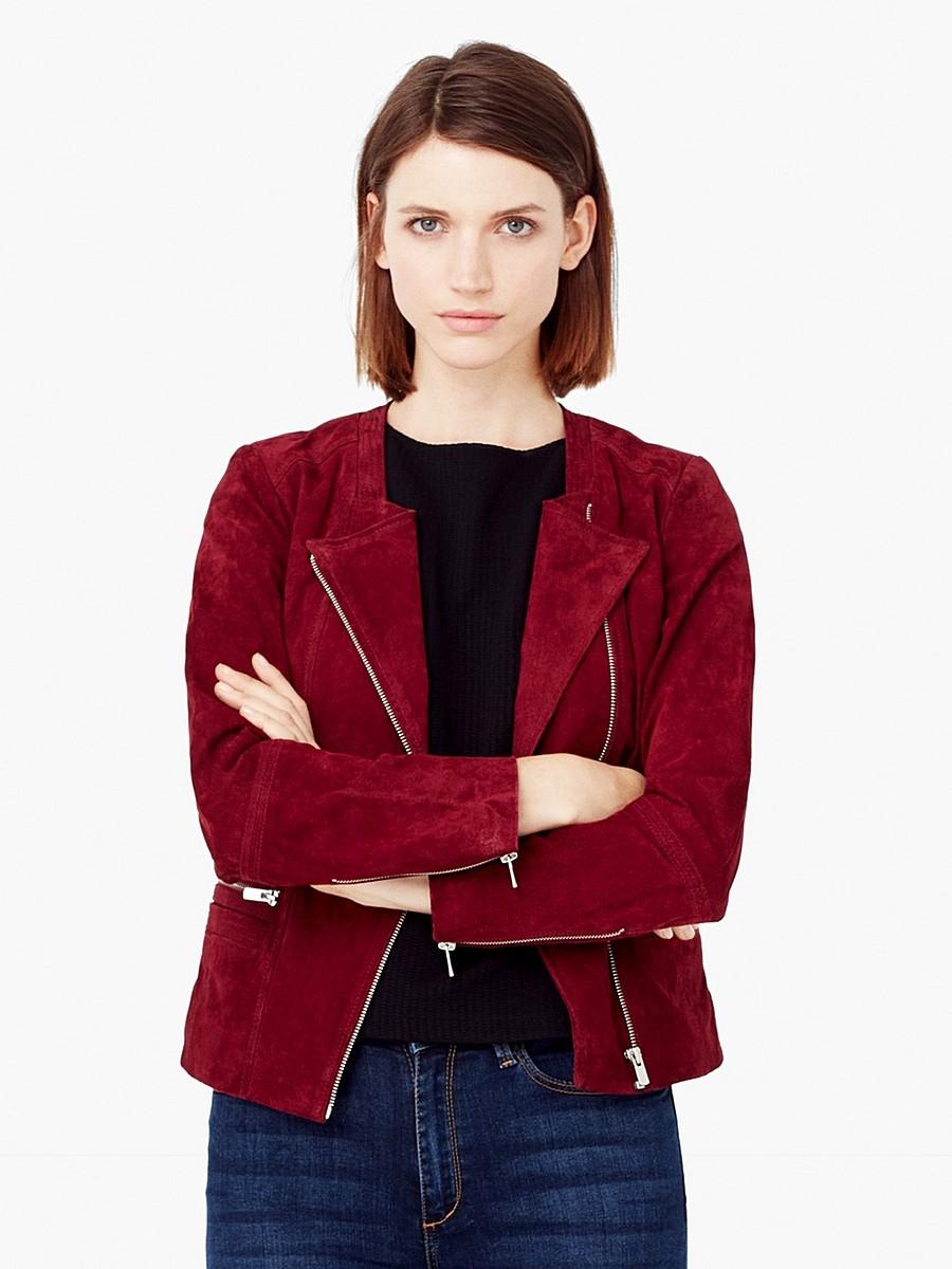 замшевая куртка бордо косуха