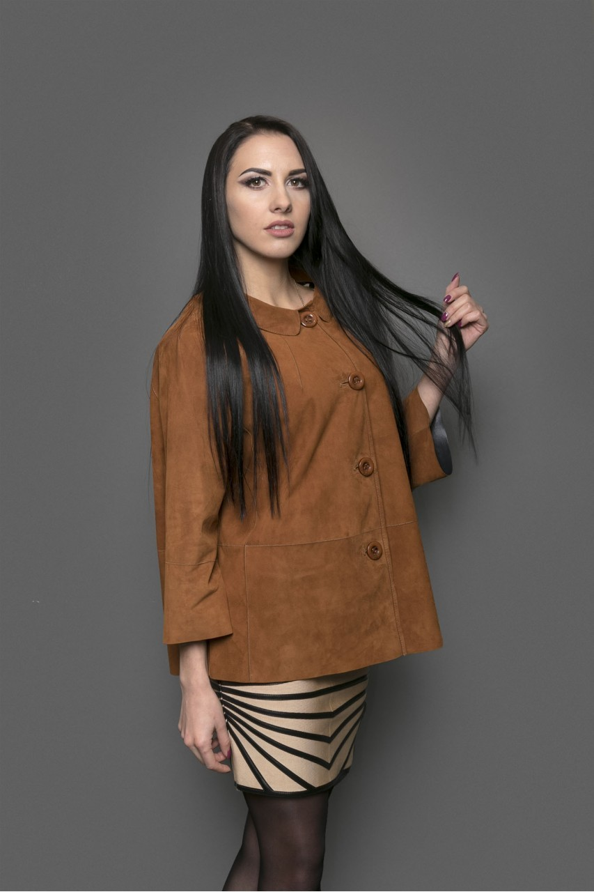 замшевая куртка коричневая свободная