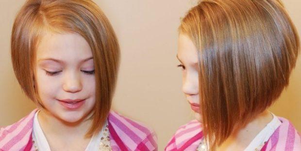модные стрижки для девочек: каре асимметрия