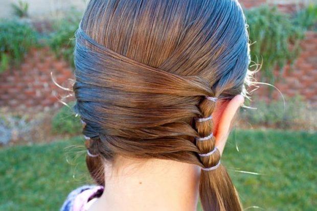 модные стрижки для девочек: оригинальные хвостики