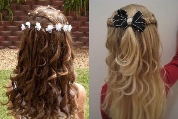 модные стрижки для девочек: локоны по всей длине волос