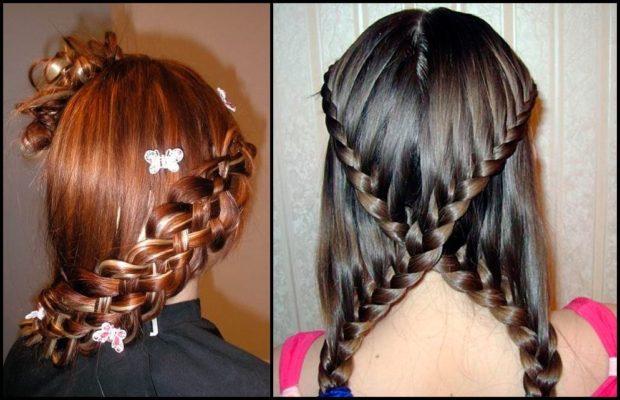 модная стрижка девочке: оригинальные косы по все длине волос