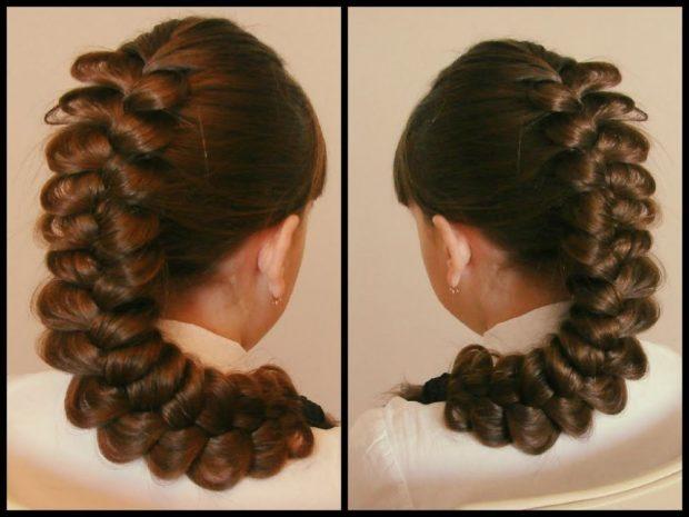 модная стрижка девочке: коса французская по всей длине волос