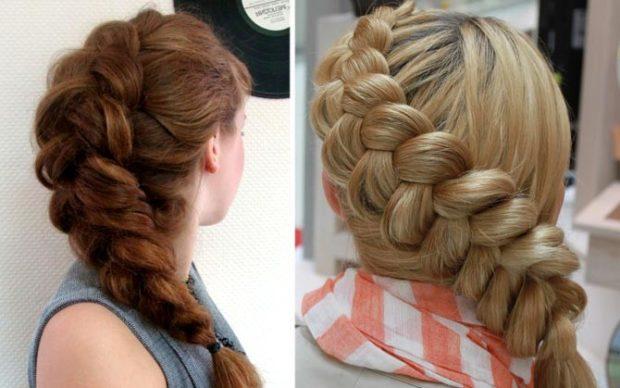 модная стрижка девочке: коса французская объемная по всей длине волос