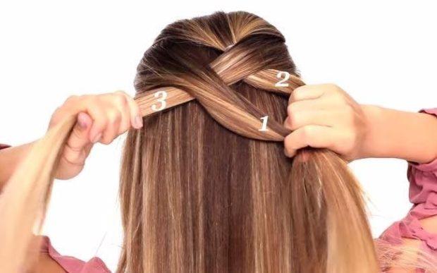 модная стрижка девочке: схема как плести косу французскую