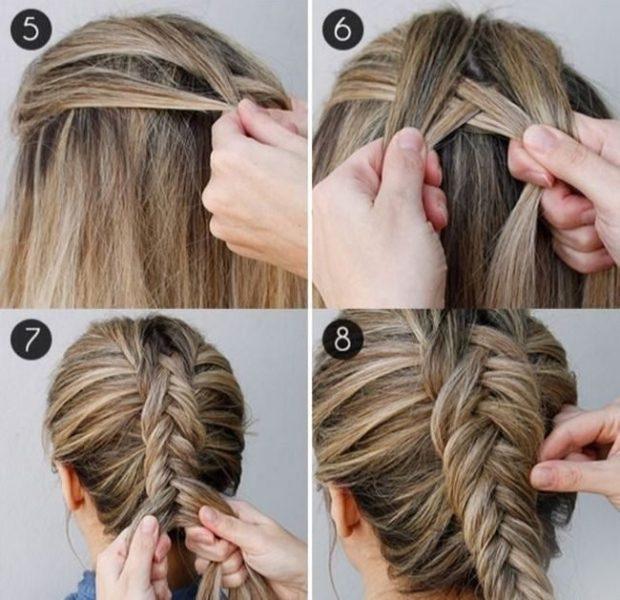 модная стрижка девочке: схема плетения косы рыбий хвост