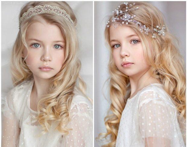 прически для девочек: распущенный волос с красивыми локонами