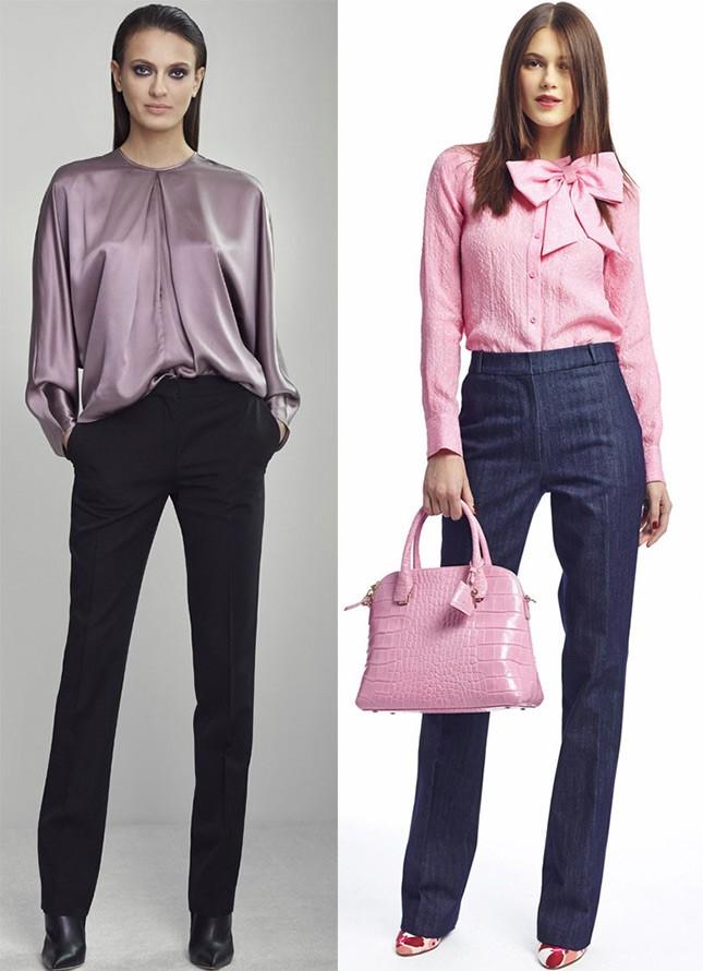 модные рубашки 2018 женские: атласная фиолетового цвета