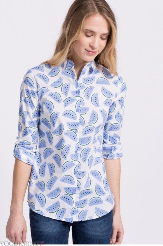 стильные женские рубашки 2019-2020: в принт