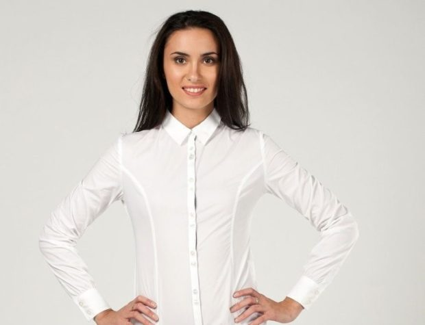 рубашки женские стильные 2018-2019: белая классическая