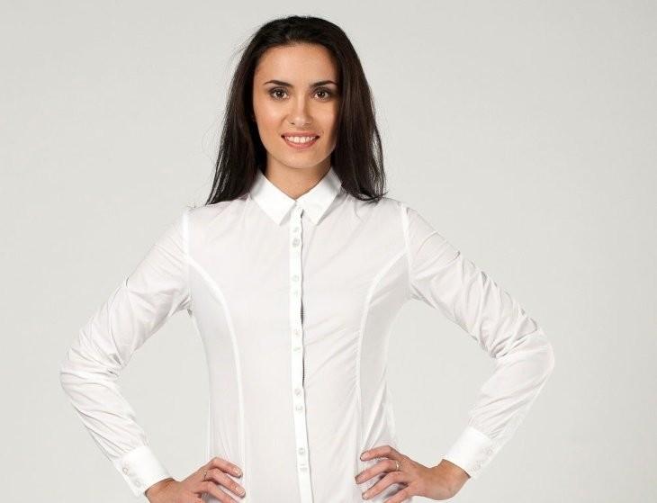 рубашки женские стильные 2018: белая классическая
