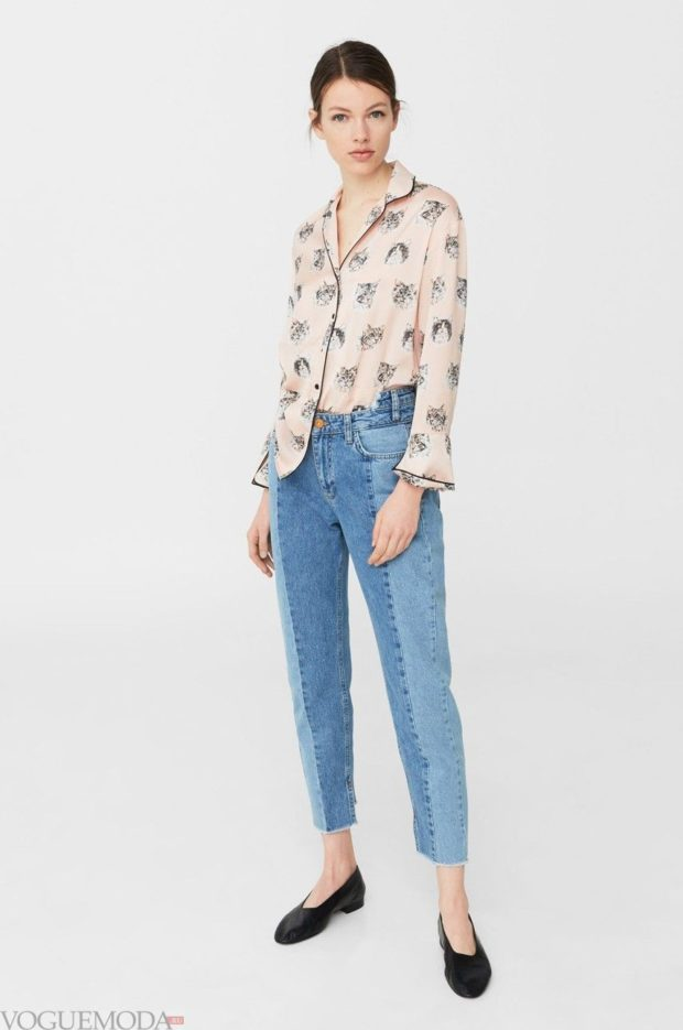 женская рубашка: в принт