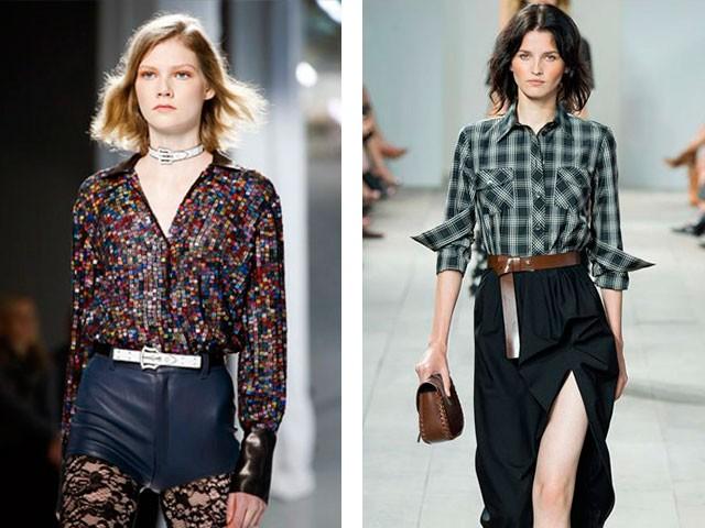 рубашки женские стильные 2018: в принт и в клетку