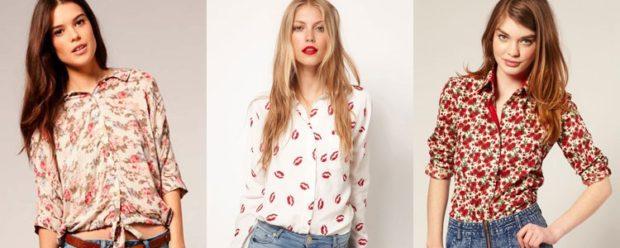 модные рубашки женские 2018-2019: с принтом