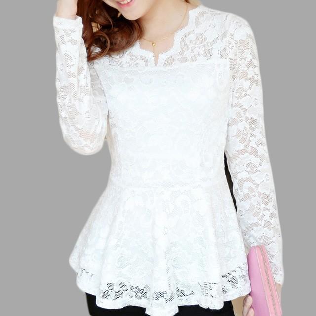 модные рубашки женские 2018: белая кружевная
