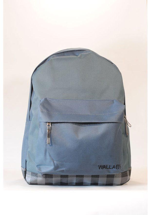 рюкзак серый тканевой