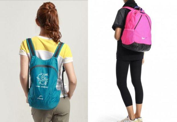 спортивные рюкзаки голубой розовый