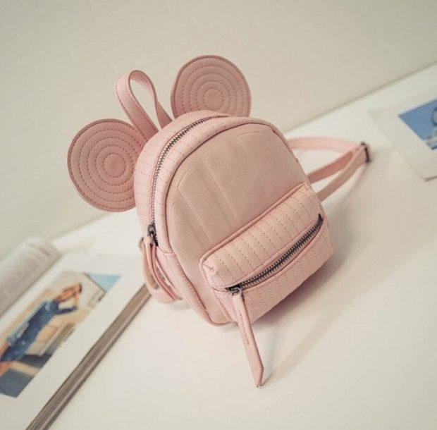 мини-рюкзак розовый с ушками