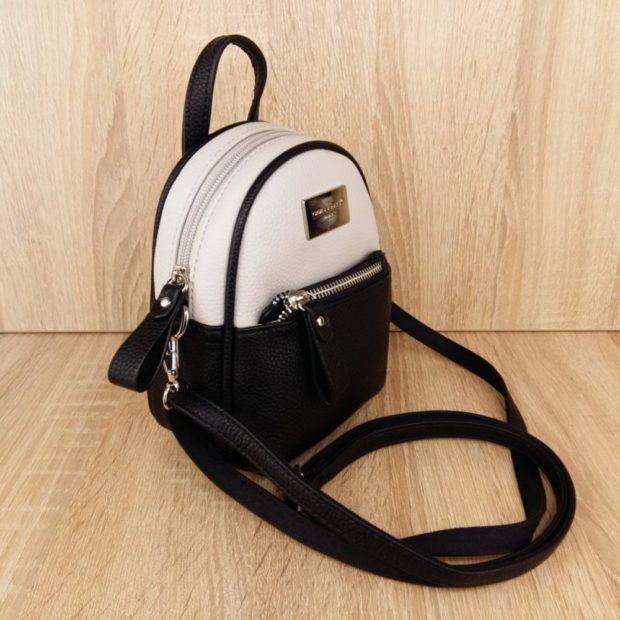 мини-рюкзак черный с белым