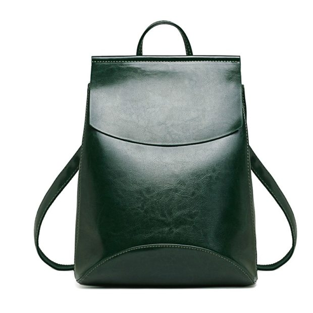 Модные рюкзаки 2019-2020: кожа зеленый