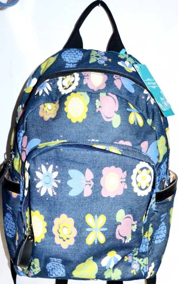 джинсовый рюкзак с рисунком цветным