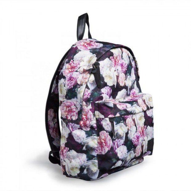 рюкзак тканевый цветы яркие