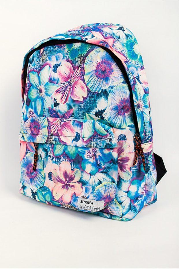 рюкзак тканевый в цветы яркий