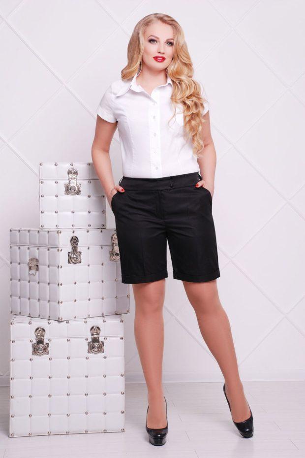 шорты черные удлиненные