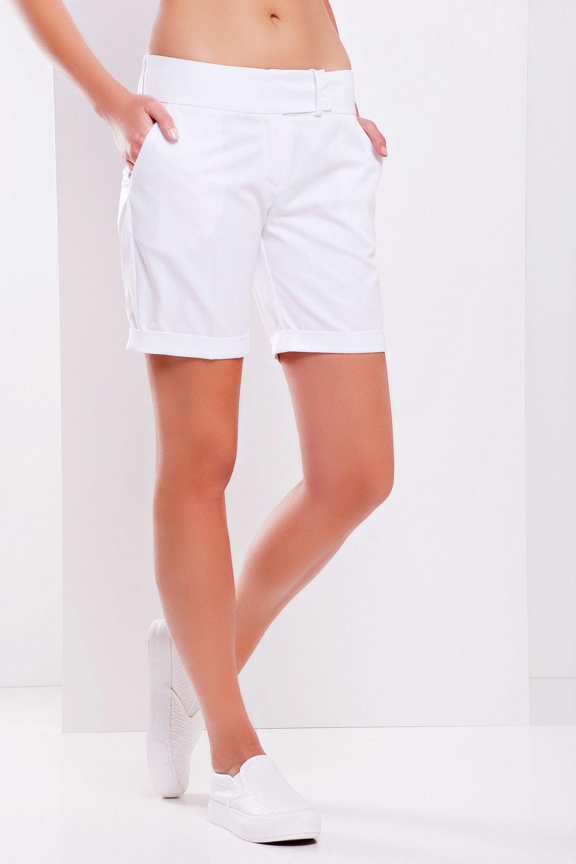 шорты белые удлиненные