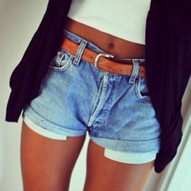джинсовые короткие