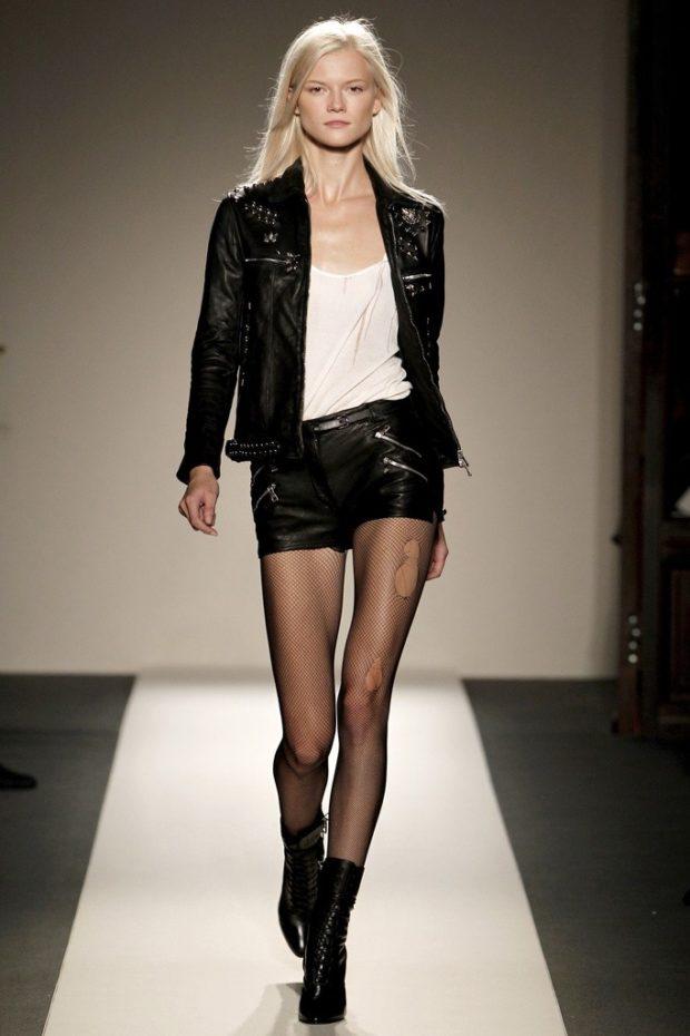 кожаный шорты короткие с карманами