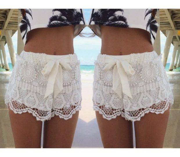 «секси» шорты ажурные белые