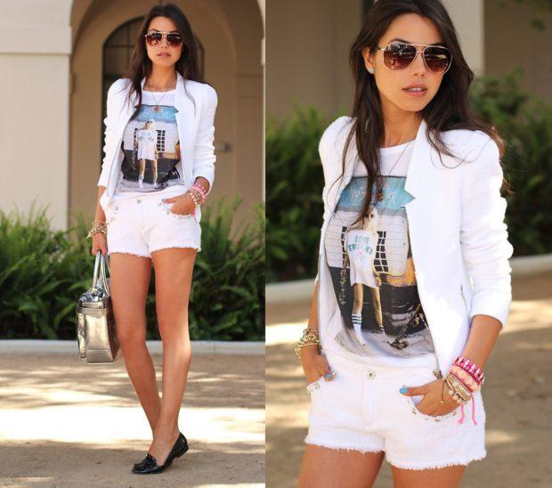 короткие шорты джинсовые белые