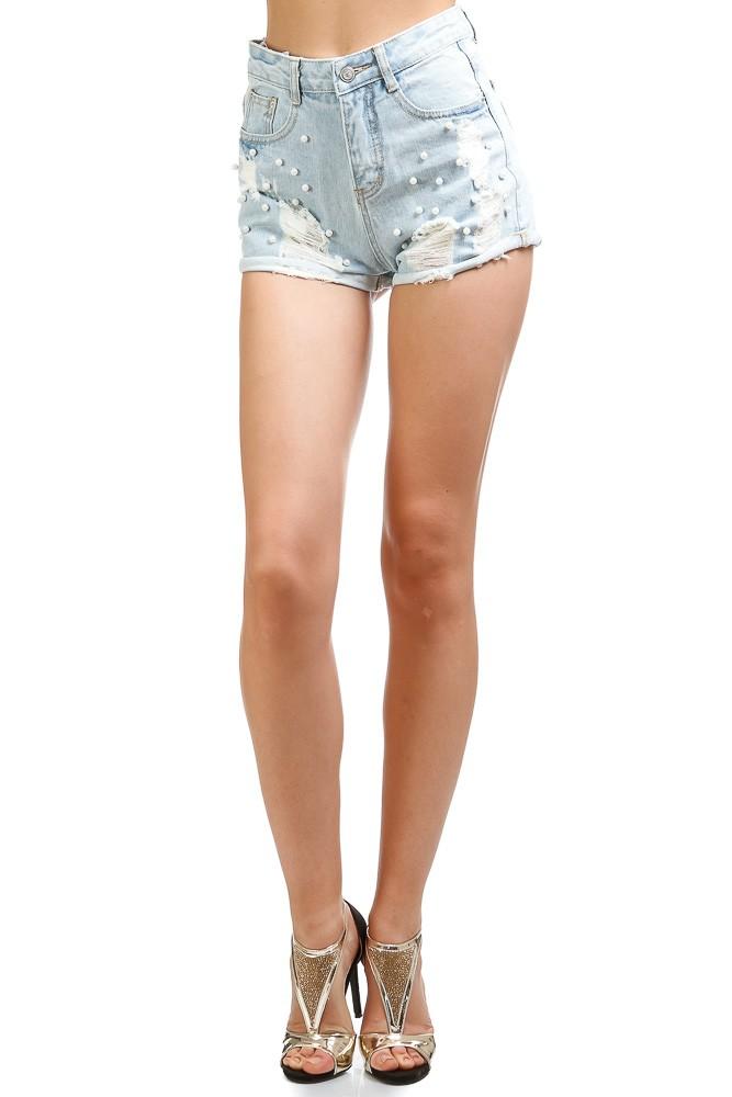 шорты светлдые джинсовые потертые