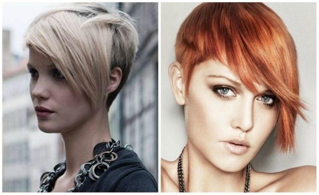 модные стрижки 2020 2021 короткие: асимметрия челка косая затылок подбритый